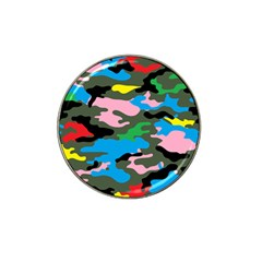 Rainbow Camouflage Hat Clip Ball Marker (4 pack)