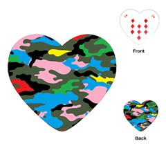Rainbow Camouflage Playing Cards (Heart)