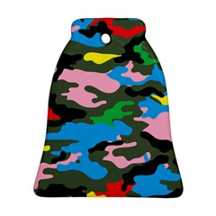 Rainbow Camouflage Ornament (bell)