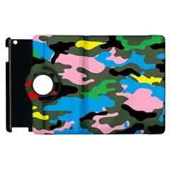 Rainbow Camouflage Apple iPad 2 Flip 360 Case