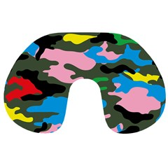 Rainbow Camouflage Travel Neck Pillows
