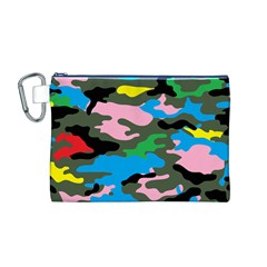 Rainbow Camouflage Canvas Cosmetic Bag (M)