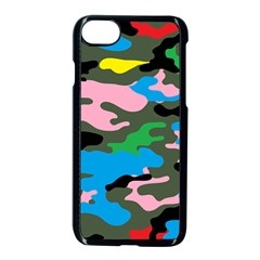 Rainbow Camouflage Apple Iphone 7 Seamless Case (black)