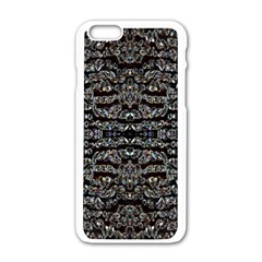 Black Diamonds Apple iPhone 6/6S White Enamel Case