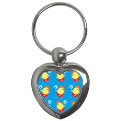 Easter Chick Key Chains (Heart)