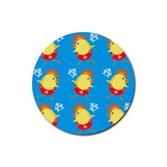 Easter Chick Rubber Round Coaster (4 pack)