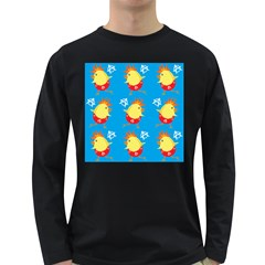 Easter Chick Long Sleeve Dark T-Shirts