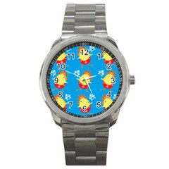 Easter Chick Sport Metal Watch