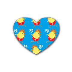 Easter Chick Rubber Coaster (Heart)