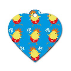 Easter Chick Dog Tag Heart (Two Sides)