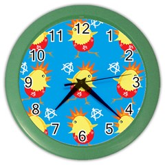 Easter Chick Color Wall Clocks