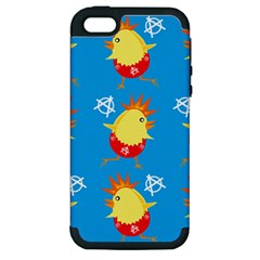 Easter Chick Apple iPhone 5 Hardshell Case (PC+Silicone)