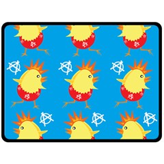 Easter Chick Double Sided Fleece Blanket (Large)