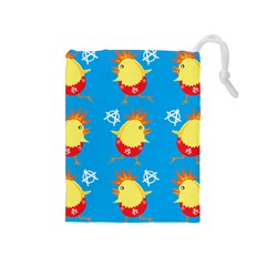 Easter Chick Drawstring Pouches (Medium)