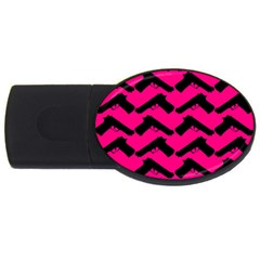 Pink Gun USB Flash Drive Oval (1 GB)
