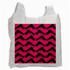Pink Gun Recycle Bag (One Side)
