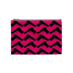 Pink Gun Cosmetic Bag (Medium)