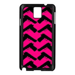 Pink Gun Samsung Galaxy Note 3 N9005 Case (Black)