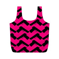 Pink Gun Full Print Recycle Bags (M)