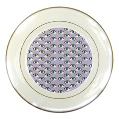 Purple Eyeballs Porcelain Plates