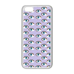 Purple Eyeballs Apple iPhone 5C Seamless Case (White)