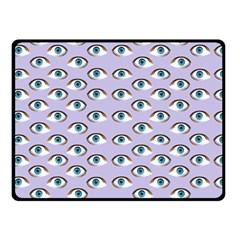 Purple Eyeballs Double Sided Fleece Blanket (Small)