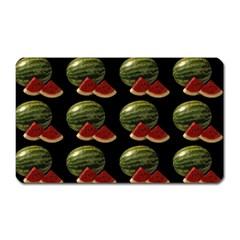 Black Watermelon Magnet (Rectangular)