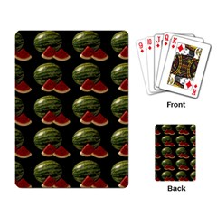 Black Watermelon Playing Card