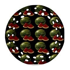 Black Watermelon Ornament (Round Filigree)