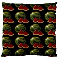 Black Watermelon Large Cushion Case (Two Sides)