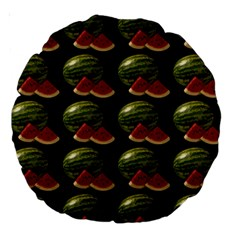 Black Watermelon Large 18  Premium Round Cushions