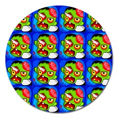 Zombies Magnet 5  (Round)