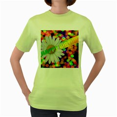Happy Birthday Women s Green T-Shirt