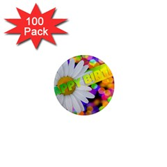 Happy Birthday 1  Mini Magnets (100 pack)