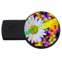Happy Birthday USB Flash Drive Round (4 GB)