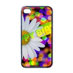 Happy Birthday Apple iPhone 4 Case (Black)