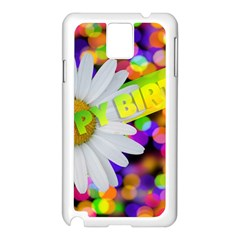 Happy Birthday Samsung Galaxy Note 3 N9005 Case (White)
