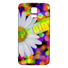 Happy Birthday Samsung Galaxy S5 Back Case (White)
