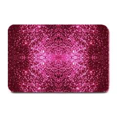 Pink Glitter Plate Mats