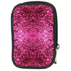 Pink Glitter Compact Camera Cases