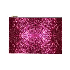 Pink Glitter Cosmetic Bag (Large)