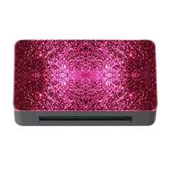Pink Glitter Memory Card Reader with CF