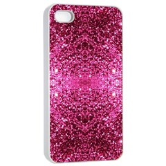 Pink Glitter Apple iPhone 4/4s Seamless Case (White)