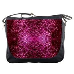 Pink Glitter Messenger Bags