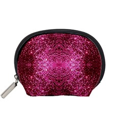 Pink Glitter Accessory Pouches (Small)