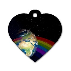 Earth Dog Tag Heart (Two Sides)