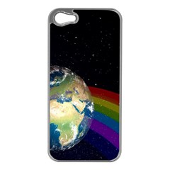 Earth Apple iPhone 5 Case (Silver)