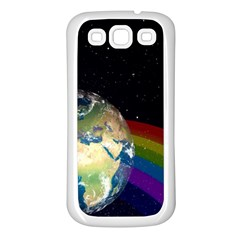 Earth Samsung Galaxy S3 Back Case (White)