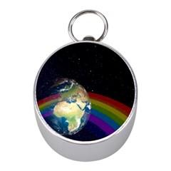 Earth Mini Silver Compasses