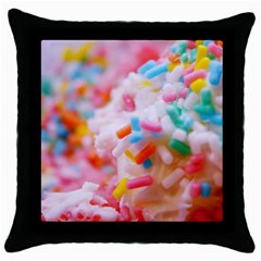 Birthday Cake Throw Pillow Case (Black)